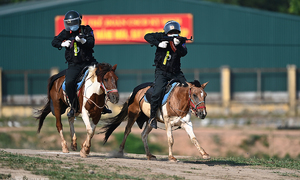 How mounted police officers train