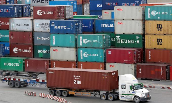 Trade deficit at $396 mln