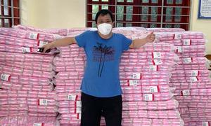 Man donates sanitary pads to quarantined women, medics in Covid-19 hotspot