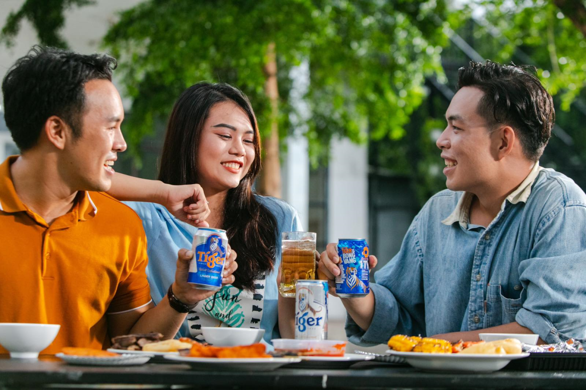 Due to the pandemic, consumers tend to enjoy their meals at home. Photo by: Tiger Beer