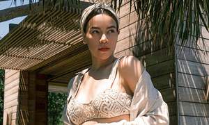 Celebs opt for knitwear to beat scorching summer heat