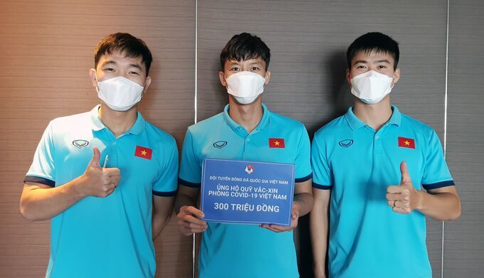 National football team support Covid-19 vaccine fund