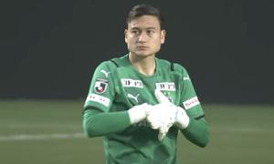 Vietnamese star keeper debuts for Japanese club