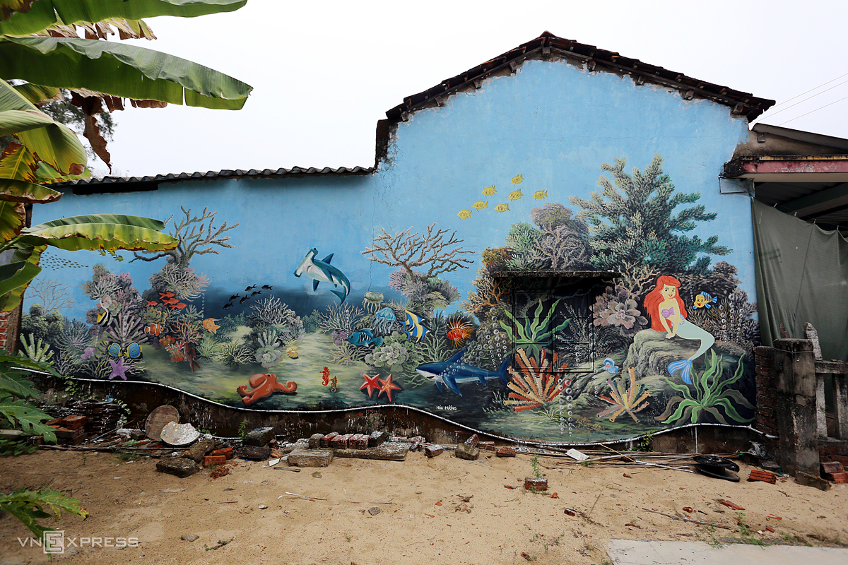 On Sunday, nearly 30 murals were finished, adding a fresh lick of paint to the village.