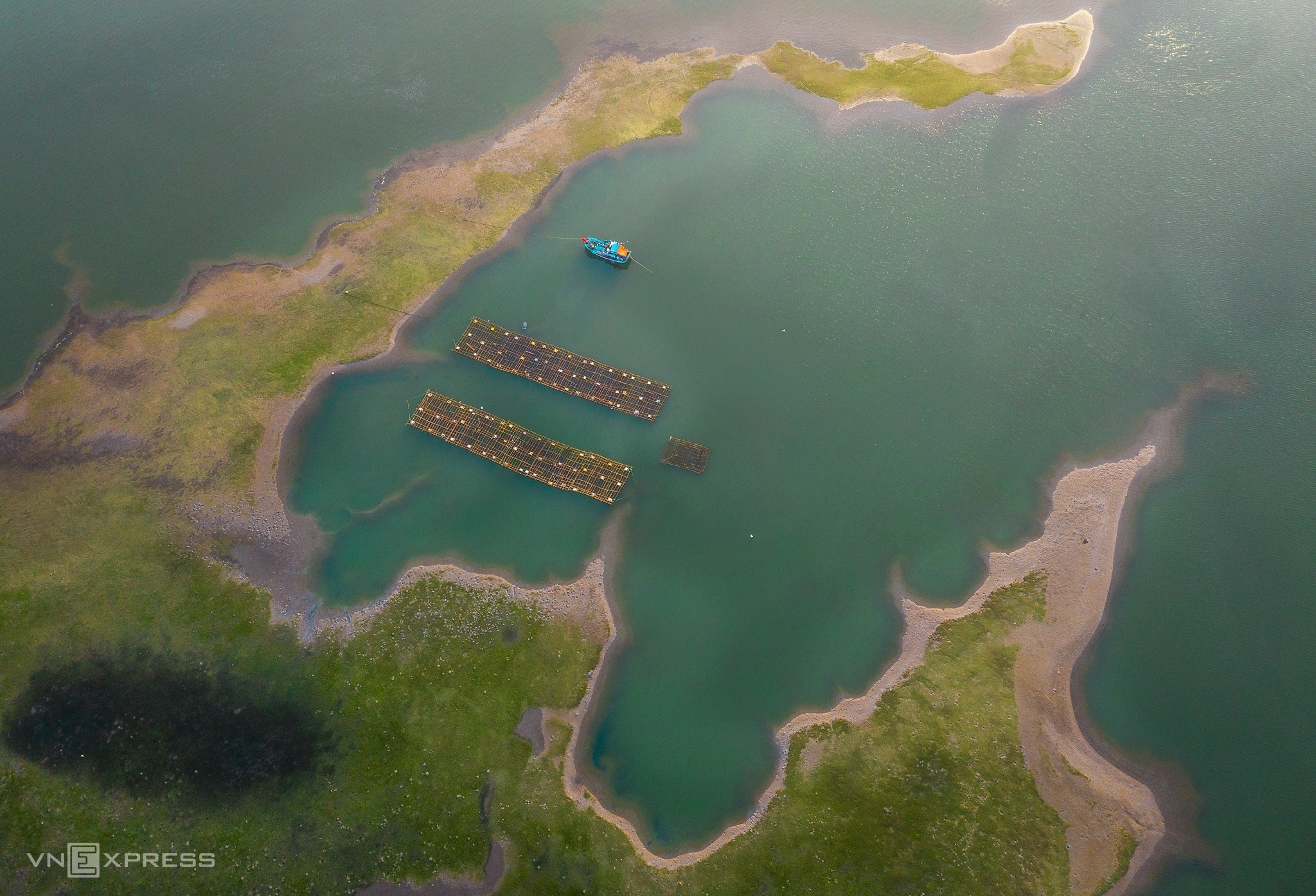 An aerial tour of Binh Dinh's largest saltwater lagoon