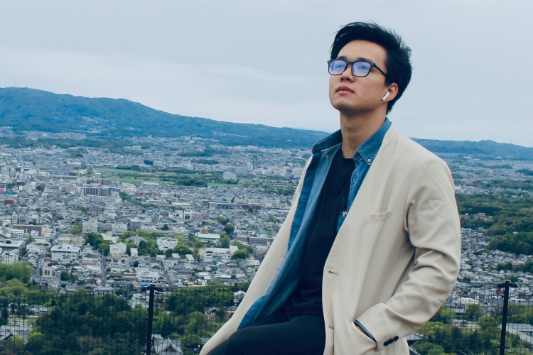 Pham Hung An is in Naga city, Japan, in April, 2021. Photo courtesy of An.