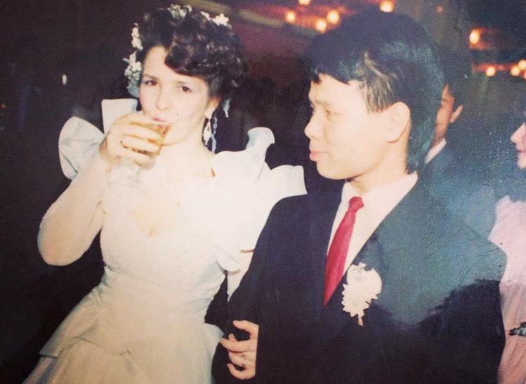 The couples wedding was held in 1990 in Kiev, the capital of Ukraine. Photo courtesy of Svetlana Nguyen.