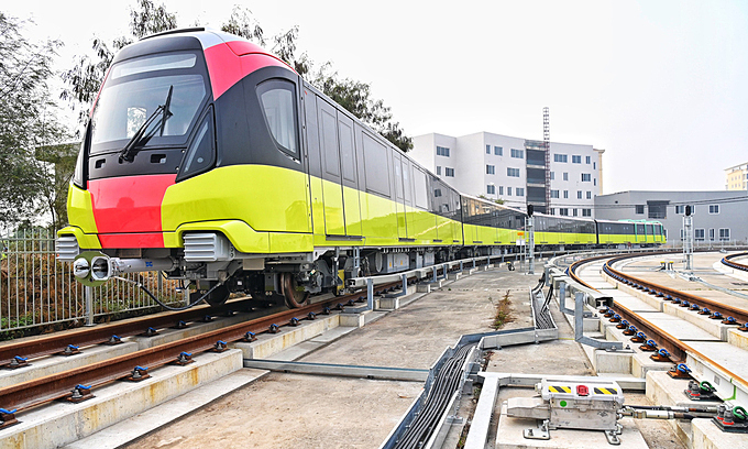 Hanoi 2nd metro route elevated tracks to be tested