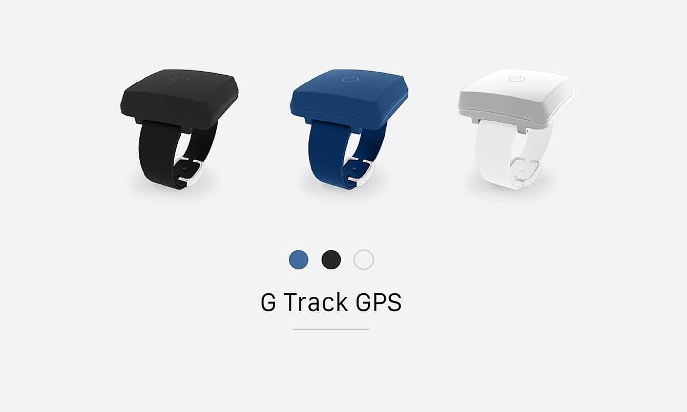 Prototype models of G-Track tracking wristbands, which utilize GPS technologies, developed by Ginnovations.
