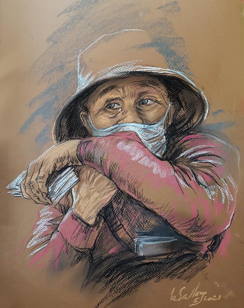 Sketchbook of Saigon's Covid plight
