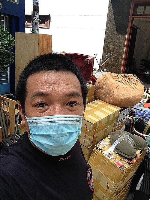 Binh helps people move house as a side job to earn extra money. Photo courtesy of Binh.