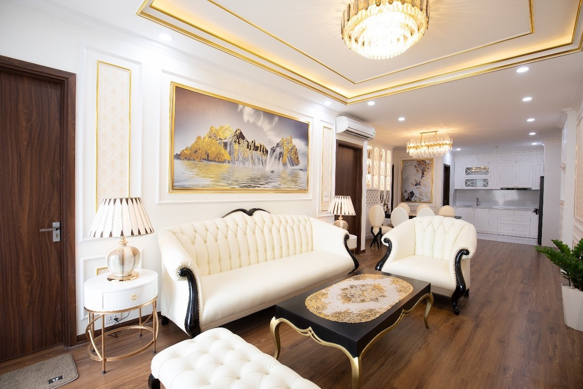 Nội thất được thiết kế trong căn hộ mẫu của Fu Din Green Park.  Nhiếp ảnh gia: Poo Thin Green Park.