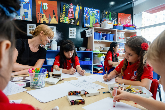 The schools curriculum is built according to the IB framework. Photo by: ISSP