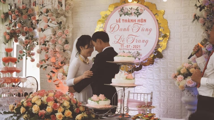 The wedding celebration of Dam Danh Tung and Le Trang. Photo courtesy of Dam Danh Tung.
