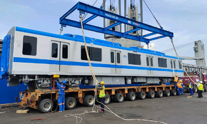 Two more trains for HCMC's 1st metro line arrive from Japan