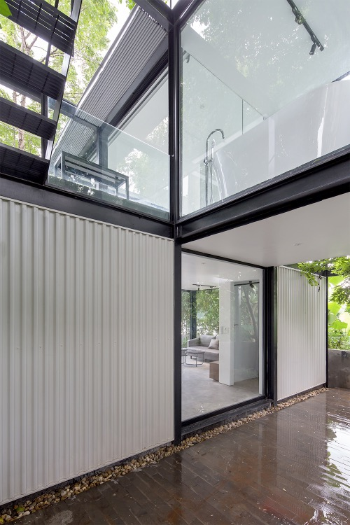 Metal and glass also help block outside heat and noise.