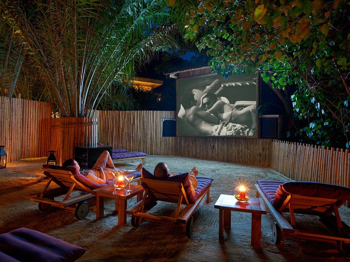 Inside luxury resorts, outdoor theaters offer new travel experience