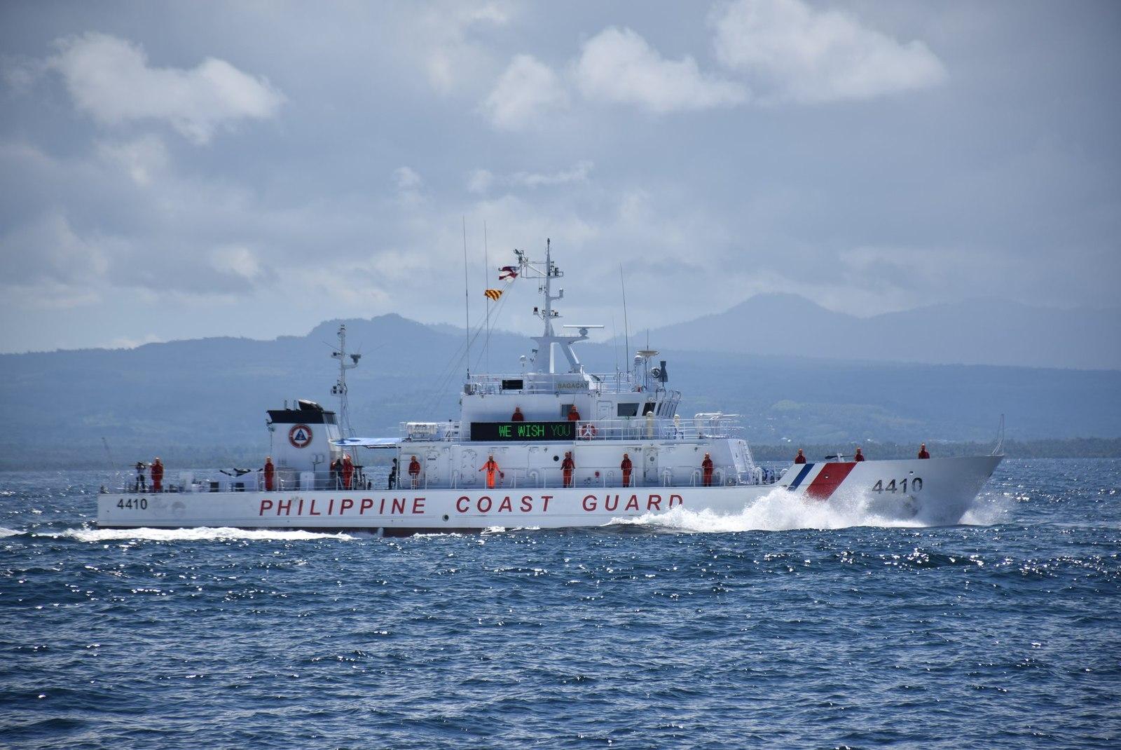 Philippine Coast Guard join Japan Coast Guard in a communication exercise involving BRP Cape San Agustin, BRP Bagacay and patrol ship Echigo at Basilan Strait, November 21, 2018. Photo courtesy of Philippine Coast Guard.