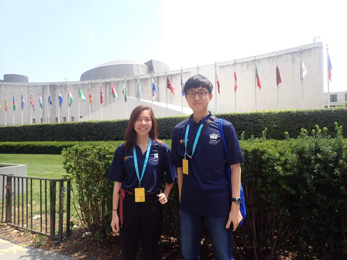 Sungwoo (right) and Ha Minh (left), Class of 2021, were BIS Hanoi's Student Ambassadors at the NAE-UNICEF Student Summit in New York.