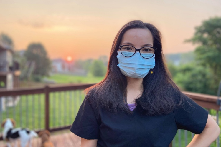 Ninh Pham is in her house in Columbia, Missouri, July, 2021. Photo courtesy of Pham.