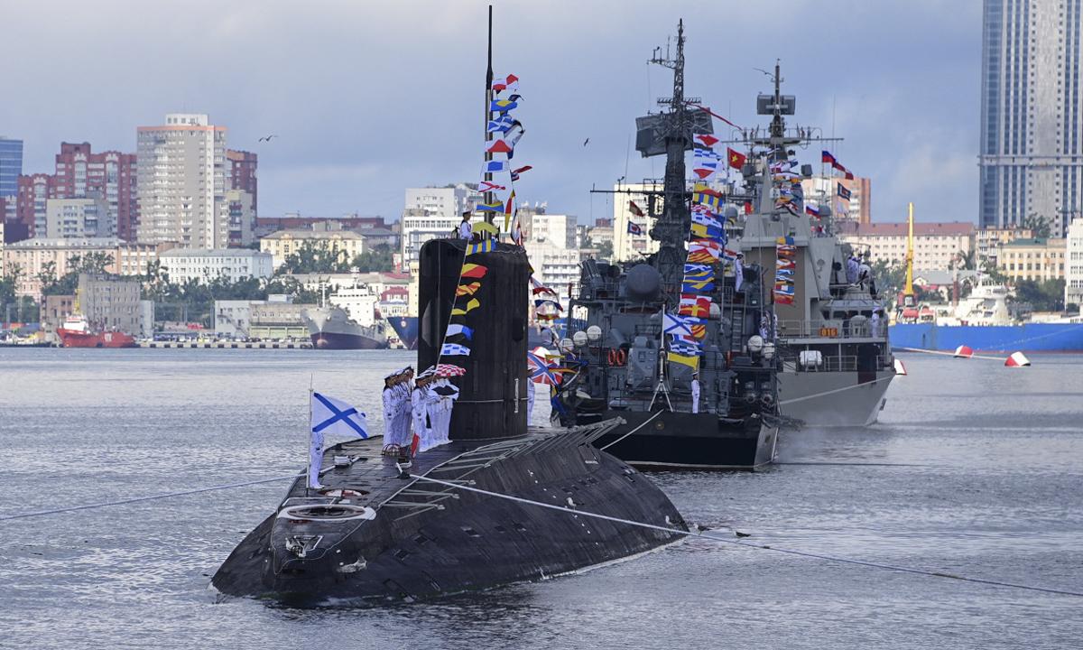 The Ust-Bolsheretsk submarine.