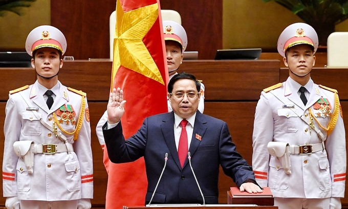 New parliament re-elects PM Pham Minh Chinh