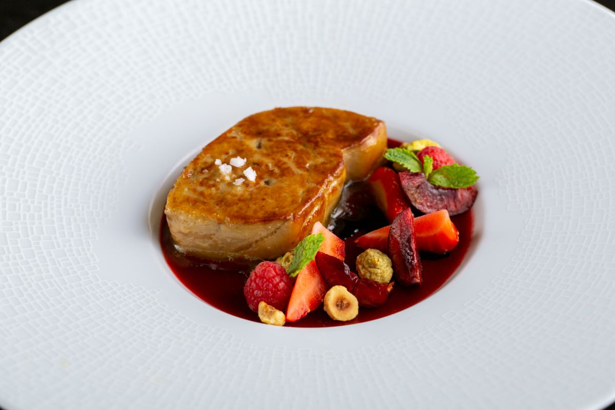 A dish of Seared Foie Gras prepared by chefs at French Grill restaurant in Hanoi. Photo courtesy of French Grill.