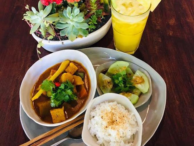 A dish of vegan dish at Vegan Zone Restaurant in Hoi An ancient town. Photo courtesy of Vegan Zone.