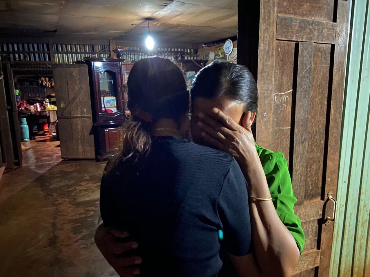 A trafficked survivor reunites with her family in Vietnam. Photo courtesy f Blue Dragon Children's Foundation.