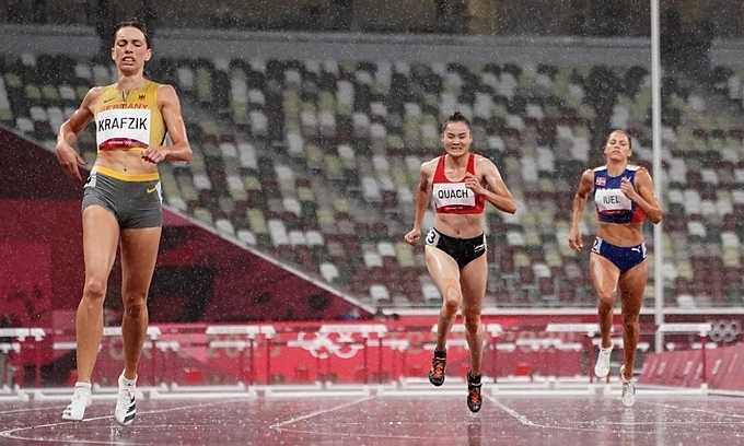 Star athlete brings curtain down on Vietnam's Olympics campaign