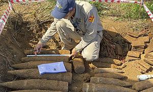 1.5 ton bomb cache found on building site