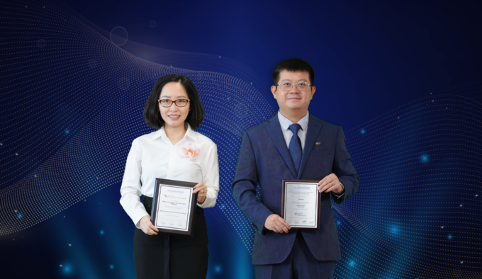 MB was awarded two awards by The Asian Banker, including Best FX Bank in Vietnam and Best Financial Derivatives Provider in Vietnam. Photo by: MB.