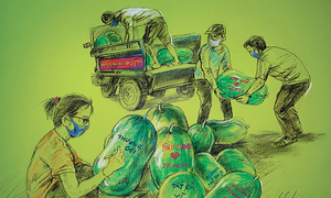 Paintings of love for Saigon as pandemic stalks city