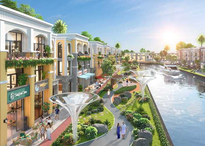 Convenient and healthy eco-living space in Phuong Hoang island, Aqua City