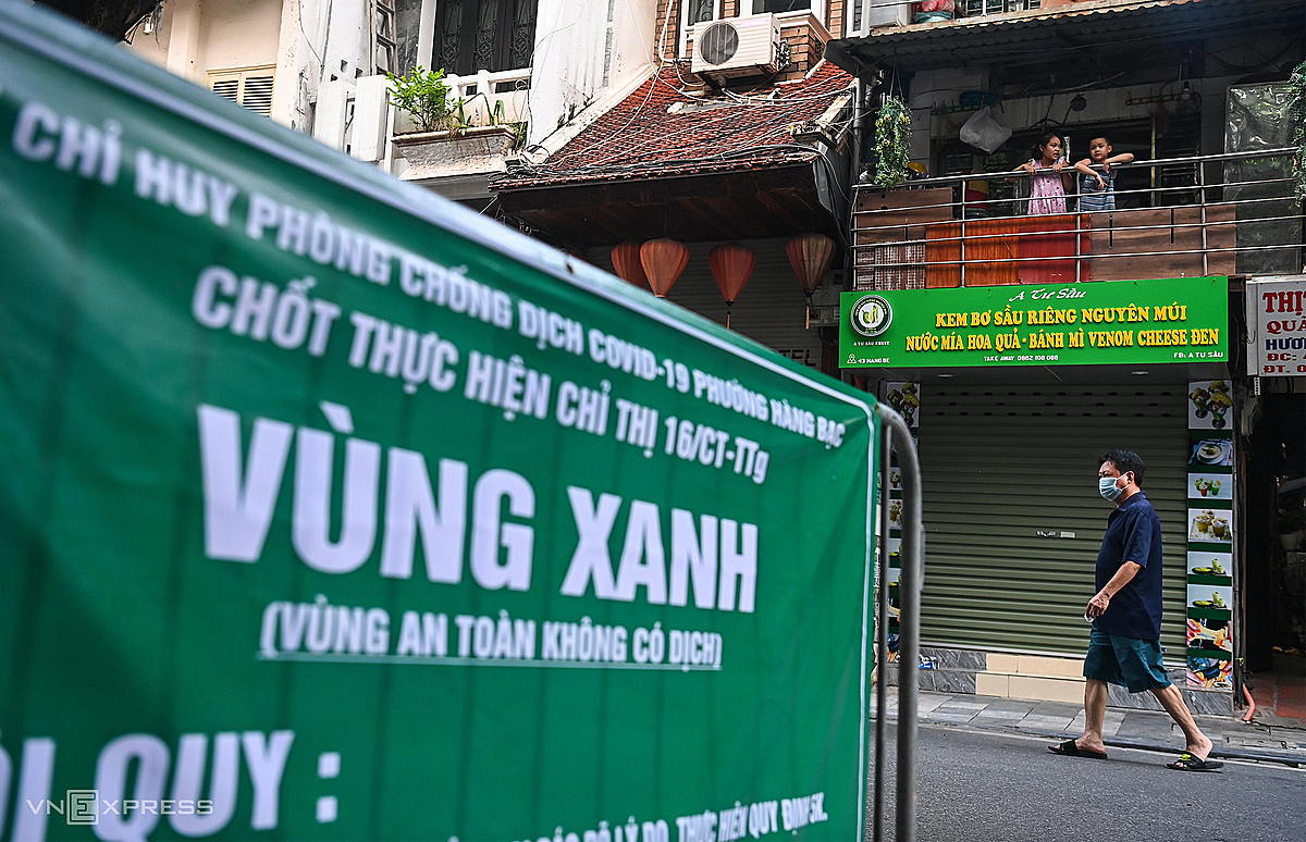 In addition to the hard latch, there is also a Green Zone on Hang Be Street to protect the area where no infections have been recorded.