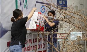 Hanoi university students endure semi-lockdown