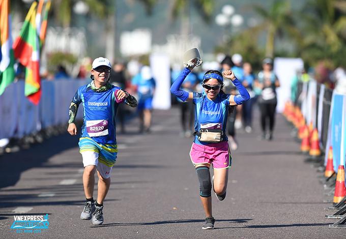 Runner at VnExpress Marathon 2020. Photo: VnExpress Marathon.