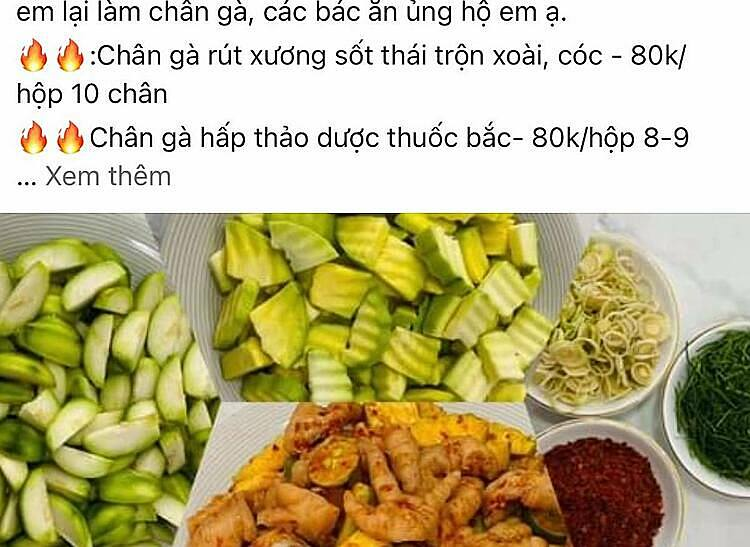 A screenshot of snacks sold on an online market in Hanoi's Ha Dong District. Photo by VnExpress