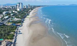 Once crowded Vung Tau beach left idle amid visitor lull
