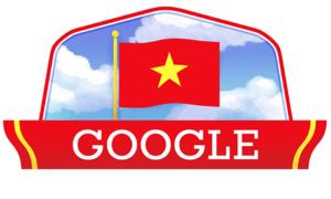Google Doodle marks Vietnam National Day with fluttering flag