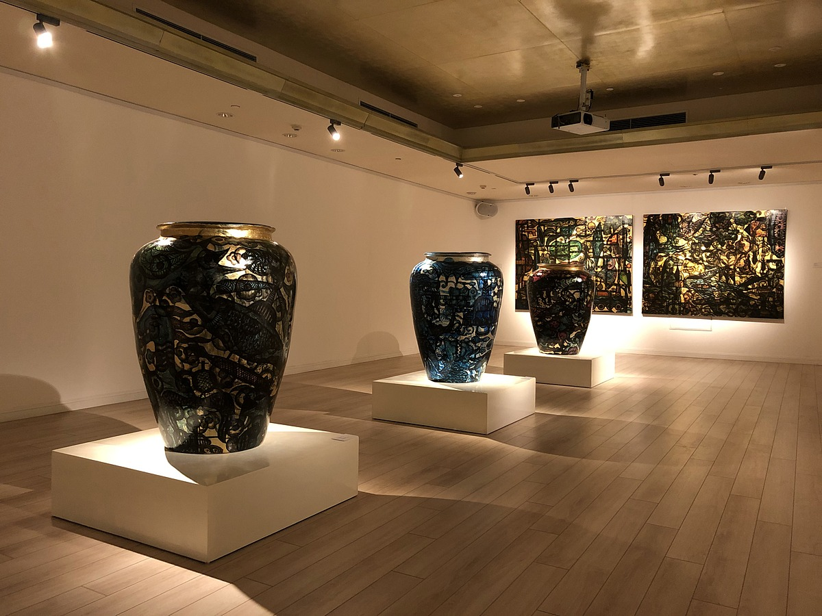 Some 'Illusion' works on display at Mo Art Space. The exhibition will reopen after the current lockdown ends. Photo provided by Le Brothers and Nguyen Anh Tuan