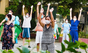 Way Covid patients stay active in HCMC field hospital