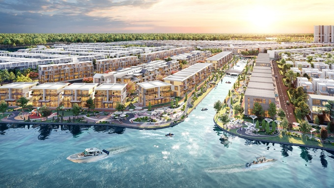 Green and harmonious nature with rivers and canals in Phoenix Island, Aqua City creats a living experience as in a resort
