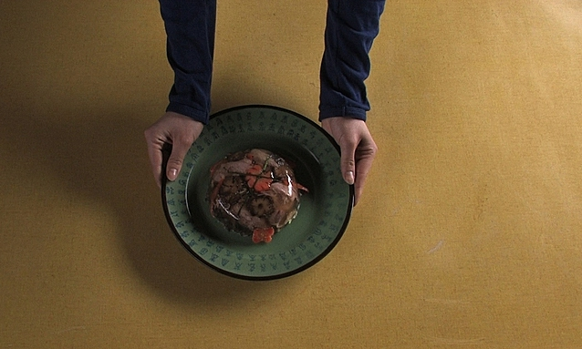 Thit dong or meat jelly, a typical Lunar New Year dish in Liesl Nguyen's 2011 short film 'Sunday Menu,' in which food symbolizes cultural and personal identity. Photo courtesy of the (now defunct) international Yxineff online film festival.