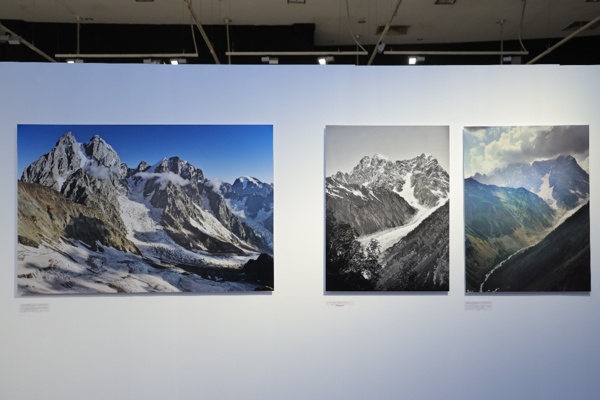 The comparison photo sets highlight the impact of climate change. Photo by:.....