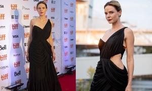 Rebecca Ferguson sports Cong Tri gown at 'Dune' Toronto premiere