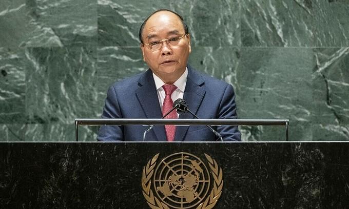 Vietnam president demands equitable supply of Covid vaccines in UN speech