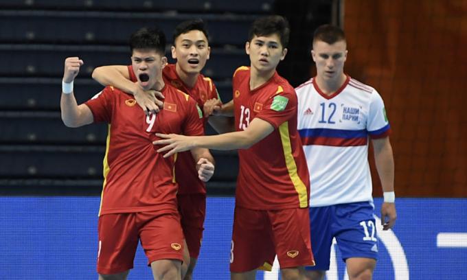 Vietnam lauded for rare futsal goal against Russia