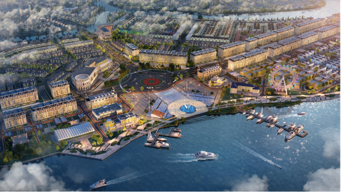 Aqua City with an appeal thanks to the model of eco-city integrated with full facilities