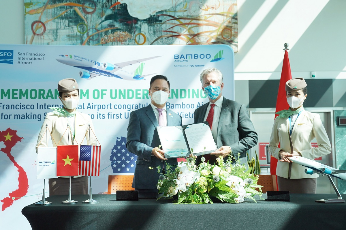 Memorandum of Understanding aims to bridge the gap between two aviation markets as well as two countries through nonstop commercial flights